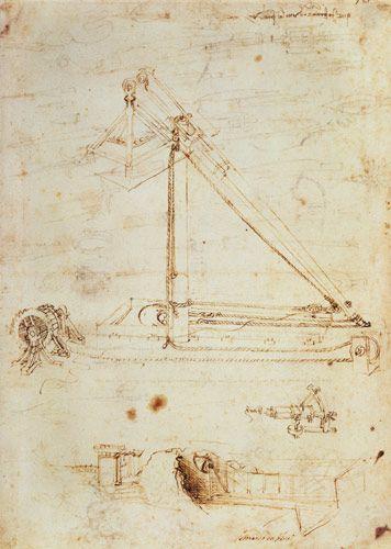 leonardo da vinci paintings | War machine - Leonardo da Vinci as art print or hand painted oil.