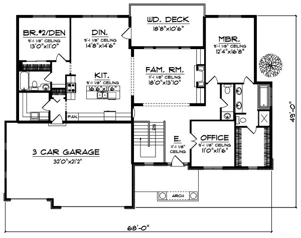 42 best empty nester images on pinterest architecture for Empty nester house plans with basement