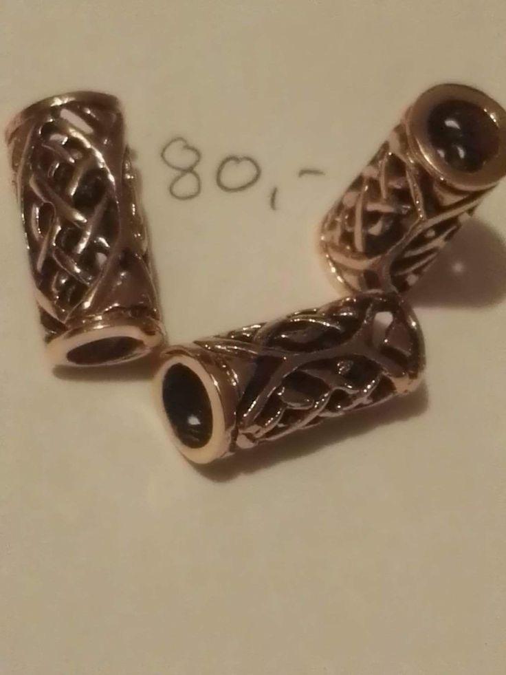 Bronze perle : 80 kr ca 15 x 7 mm