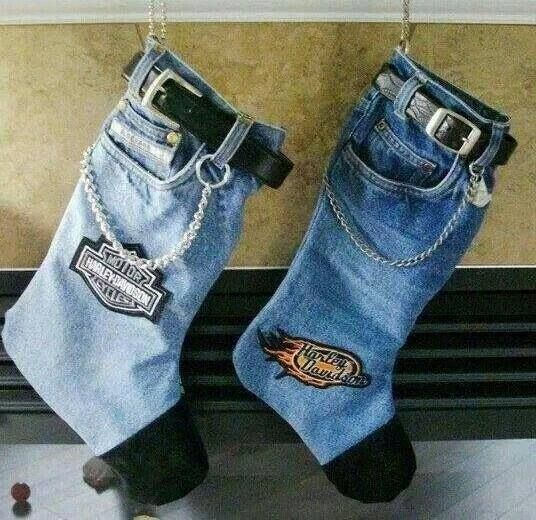 Harley Davidson Christmas stockings how adorable