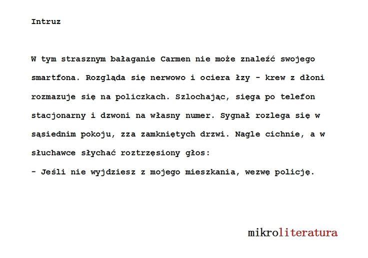 Intruz  #literatura #opowiadanie #groza