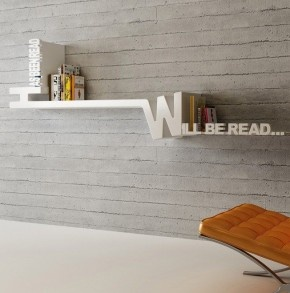 Grappige boekenplank van Decovry...