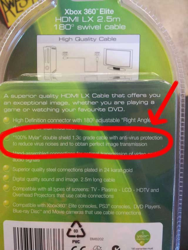 This HDMI Cable Represents The Edge Of Human Stupidity / #wtf