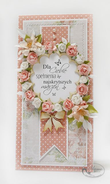 You don't need to read the words to feel the beauty of this card.  So fancy and elegant!