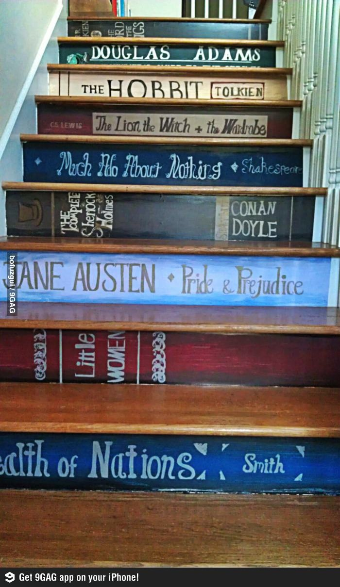 The stairs of a book lover