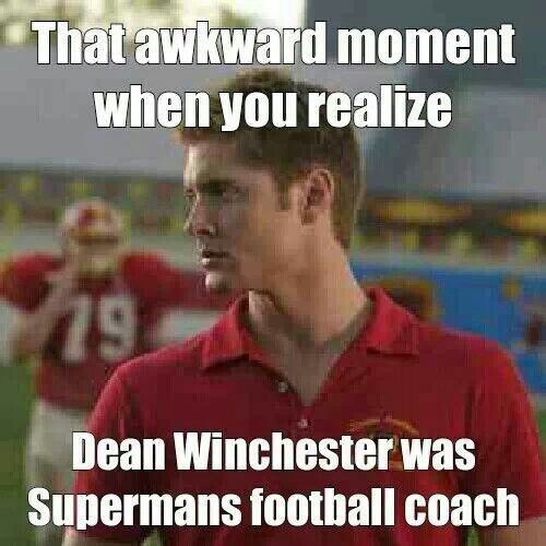 Dean Winchester was Superman's coach in Smallville ~Supernatural