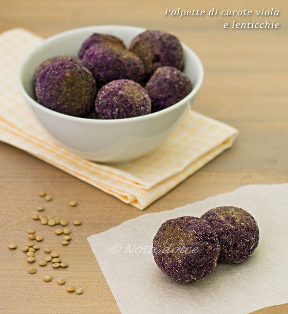 Le polpette di carote viola e lenticchie sono delle polpette vegane davvero molto gustose, dal caratteristico colore viola e facili da preparare