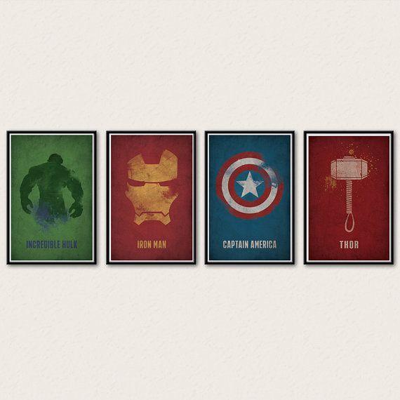 Marvel Avengers Poster Series - Iron Man, Captain America, Thor, Hulk, Black Widow, Hawkeye