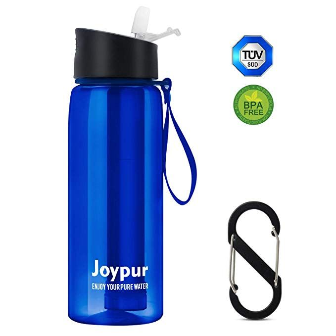 Backpacking and Emergency Preparedness Climbing joypur Water Filter Straw 4-Stage Integrated Emergency Survival Filtration System for Hiking Portable Camping Water Purifier
