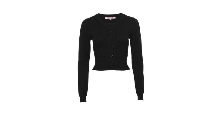 Review Australia | Chessie Long Sleeve Cardigan in Black Black