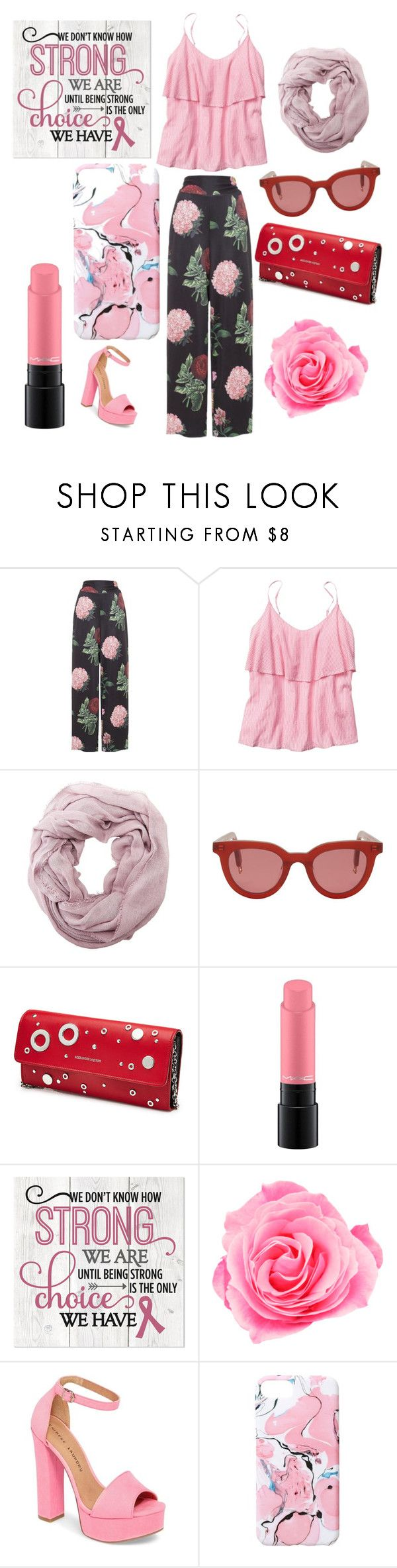 """simple pink"" by elpstlye ❤ liked on Polyvore featuring Voodoo Vixen, Gap, Charlotte Russe, Gentle Monster, Alexander McQueen, MAC Cosmetics, Chinese Laundry and Ankit"