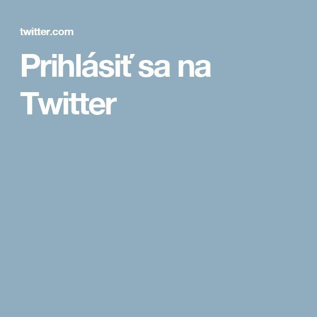 Prihlásiť sa na Twitter