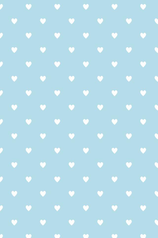 Polkadot hearts #iPhone4 #Wallpaper