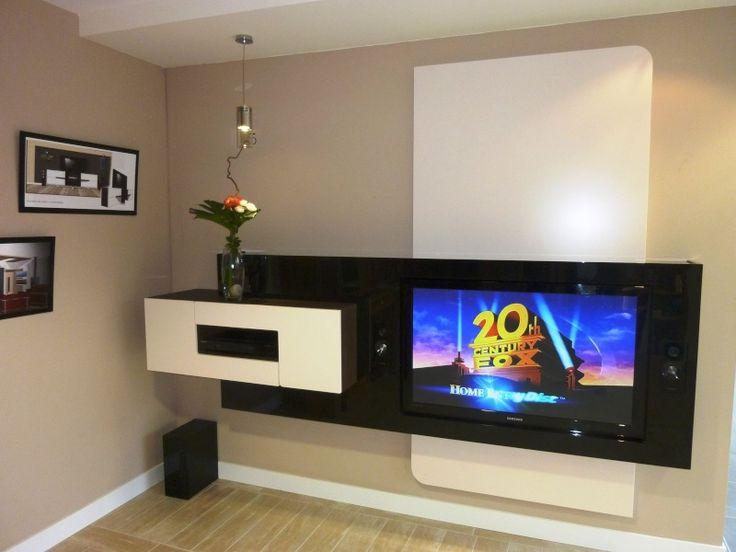album 19 tv accroch e au mur ou int gr e s rie 2. Black Bedroom Furniture Sets. Home Design Ideas