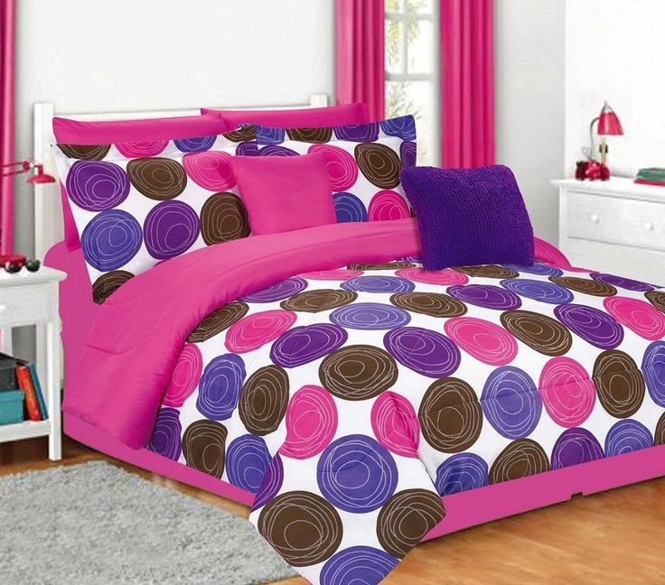 Pink And Purple Bedroom: 7 Best Bedding And Comforter Sets Images On Pinterest
