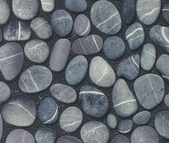 Papel pintado original y lavable con imitaci n piedras - Papel pintado imitacion piedra ...