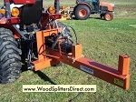 20-Ton Horizontal 3 PT Hitch Attachment.  Our 20 ton attachment for tractors are a great machine and gives you the low cost of using your existing tractor for driving the hydraulics. Just hook up to the auxiliary outputs of your tractor and you are ready to use this log splitter.  We also offer our 3 PT splitter with a PTO pump attachment.