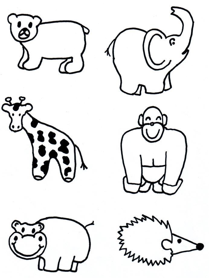 Animal Shapes To Cut Out AZ Coloring