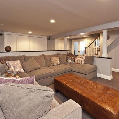 145 best amazing basements images on pinterest basement for Half basement house plans