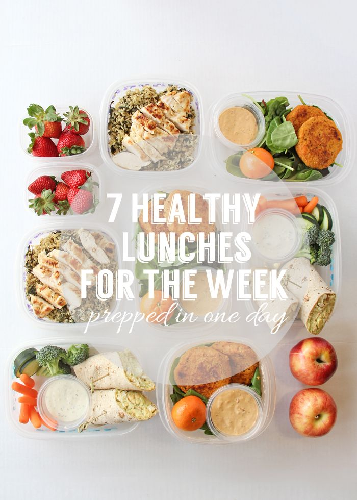 Prepare Seven Healthy Lunches For The Week