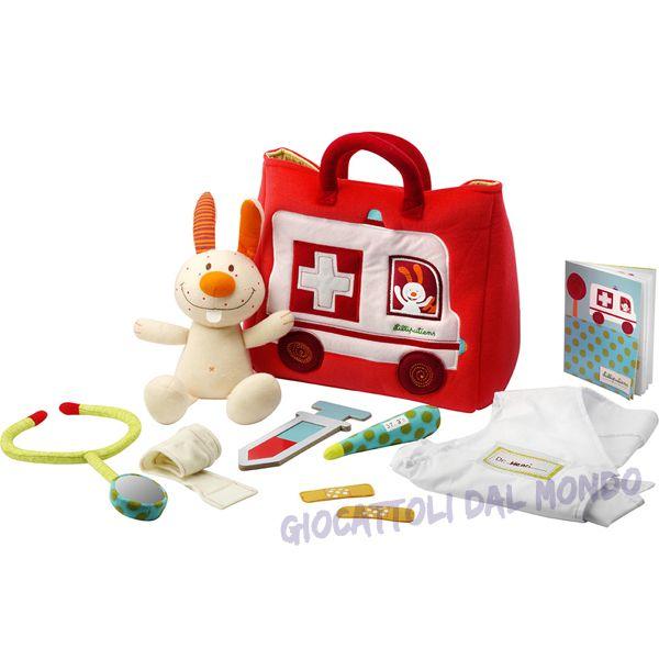 Morbida valigetta del dottore della Lilliputiens, completa di tutti gli accessori! Solo su http://www.giocattolidalmondo.it/articoli/308/la-valigetta-del-dottore-giocattolo-attivita-per-neonati-lilliputiens.htm