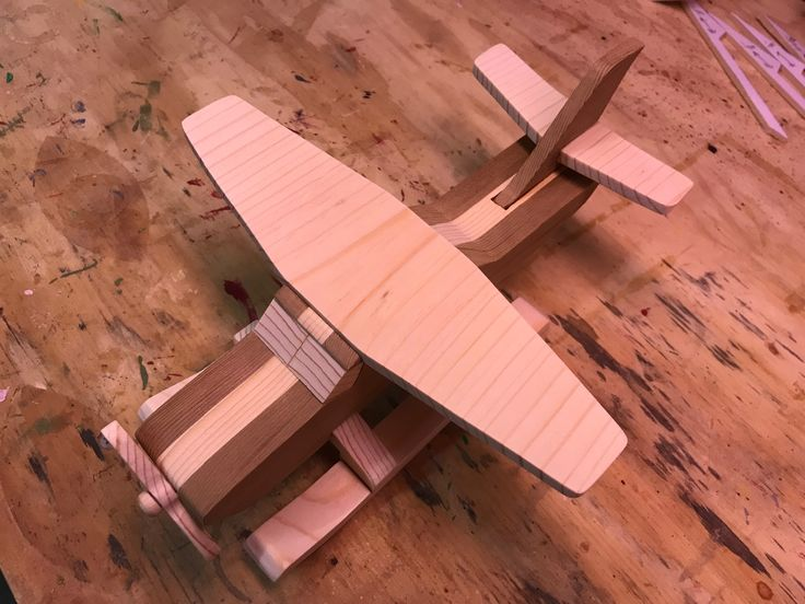 Handmade Wooden Toy Airplanes, Conversion of the Cub from the Four Quick N Easy Airplanes, Seaplane, Floatplane, Made From Cedar and Pine  #odinstoyfactoy #handmade #handcrafted #woodentoy #toys #models #airplane #aircraft