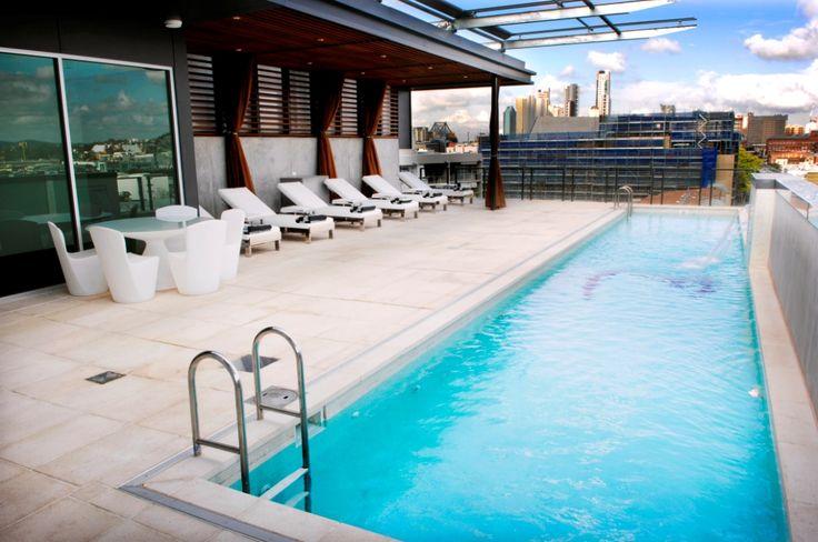 Luxury Accommodation Brisbane Hotel Beautiful Heated Pool #EmporiumHotel #Luxury