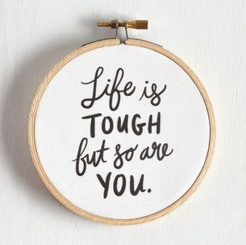 Life is tough but so are you hoop wall art.  Make your new home sweet home on campus all your own and take some inspiration from these stylish dorm decor essentials.