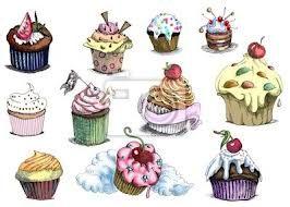 cupcake disegno bianco e nero - Cerca con Google