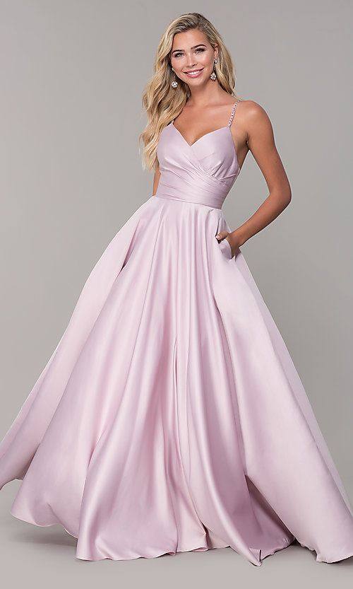 304765312612 Long A-Line Dusty Pink Prom Dress in 2019   PROM   Prom dresses ...