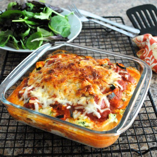 Healthy Eggplant Lasagna! Instead of pasta noodles it's made with thinly cut eggplant slices between layers.