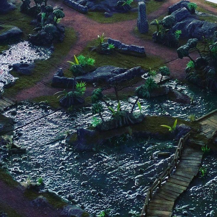 Swamp Battleboard. #wargaming #wargames #wargame #terrain #gamingtable #gamingboard #warhammer #fantasy #warhammer40k #40k  #ageofsigmar #lotr #hordes #malifaux #miniatures #mordheim #warmachine #necromunda #boltaction #gamesworkshop #infinity #model #diorama #handmade #art #scenery #war #swamp