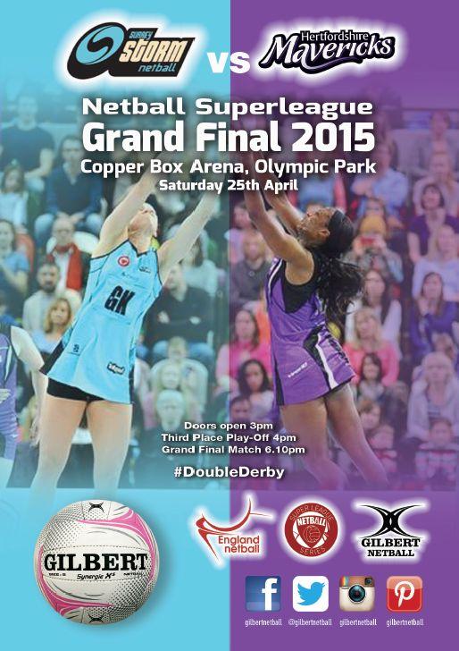 5 Days Until The Netball SuperLeague Grand Final Between Surrey Storm Netball & Hertfordshire Mavericks #BlueArmy #PurpleArmy England Netball