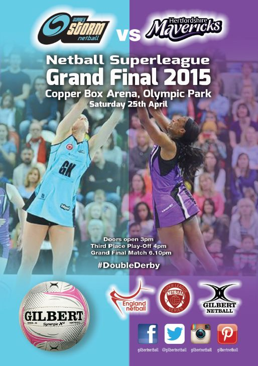 5 Days Until The Netball SuperLeague Grand Final Between Surrey Storm Netball​ & Hertfordshire Mavericks​ #BlueArmy #PurpleArmy England Netball​