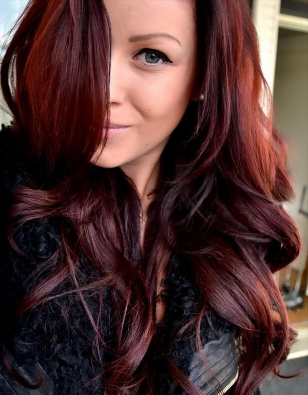 Dark Auburn Hair Colour