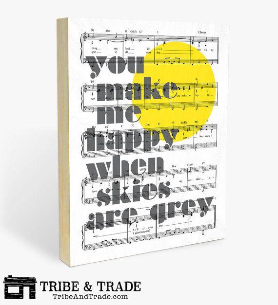 You Make Me Happy : Wood Wall Art Print  You Are My Sunshine