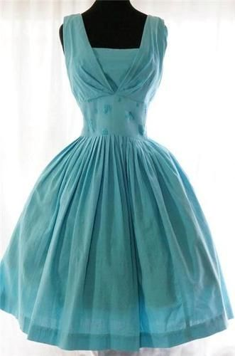~1950s Tiffany Blue dress~ by LADY_VIOLA
