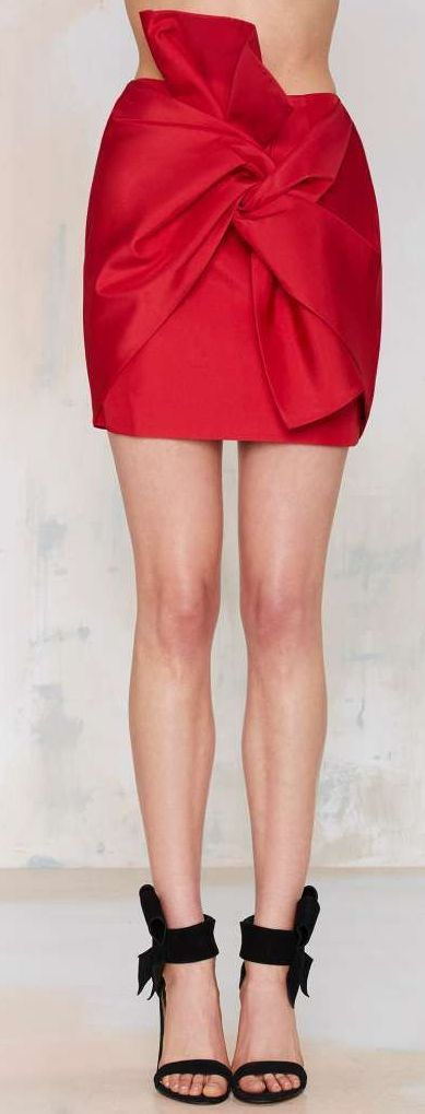 no advice tafeta skirt
