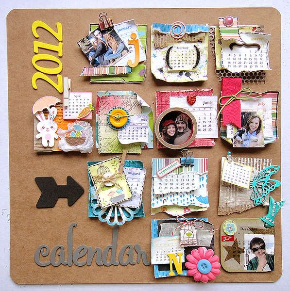Love Calendar Ideas : Love the eclecticness of this and how personalized it is