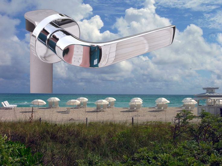 'meta' by konstantin grcic hanging out at the beach in miami