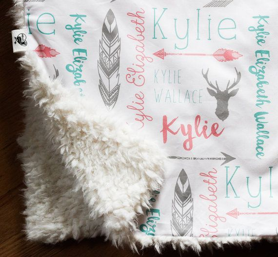 90 best personalized kids and baby clothing images on pinterest monogrammed baby blanket llama minky stroller blanket double layer personalized stroller or carseat blanket woodland deer and arrows negle Choice Image