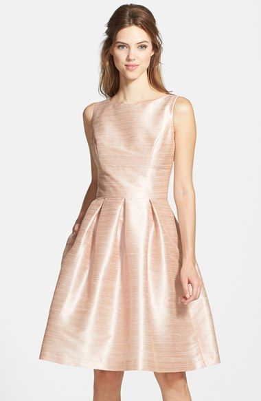 Free shipping and returns on Alfred Sung Dupioni Fit & Flare Dress at Nordstrom.com. Creating a timeless and universally flattering silhouette, a luminous dupioni dress pairs a bateau-neck bodice structured by princess seams with a full A-line skirt shaped by deft invert pleats.