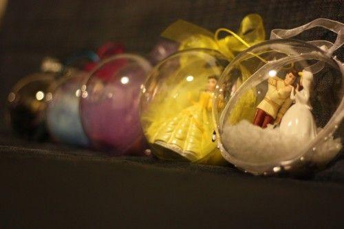 DIY: boules de Noël princesses Disney (mar-credi créa Noël