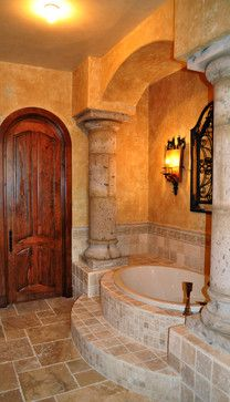 Sienna - mediterranean - bathroom - kansas city - Reed Fuller Construction, Inc