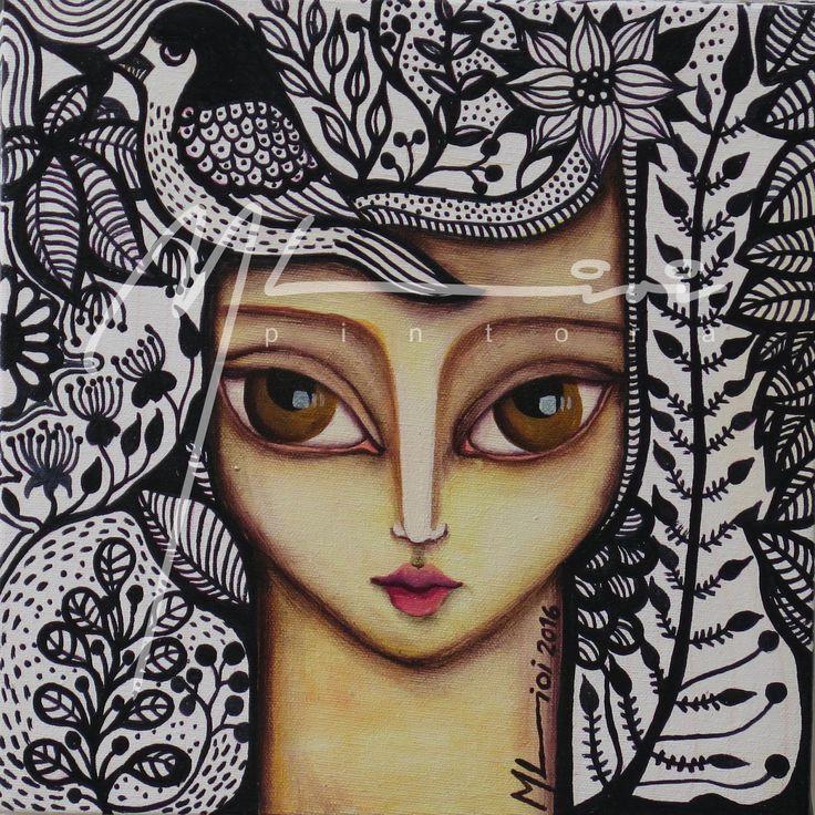 """De la serie: """"La vida que fluye"""" Acrílico sobre tela 20x20cm Artista: Melina Lioi"""