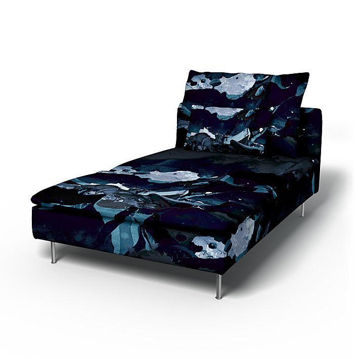 Söderhamn, Sofa Covers, Chaise Longue, Regular Fit using the fabric För att Himlen är Blå  Deep Navy Blue