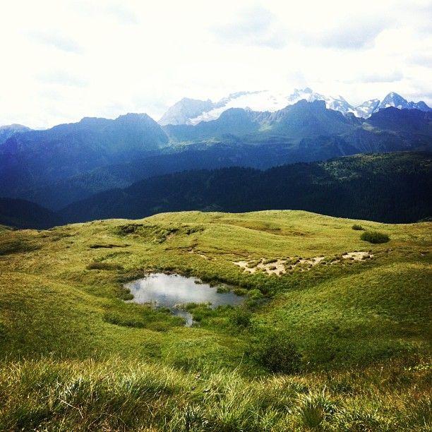 Pozza d'acqua sulle Dolomiti