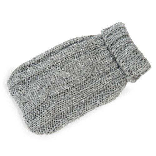 Chaufferette de poche tricotée grise STOCKHOLM