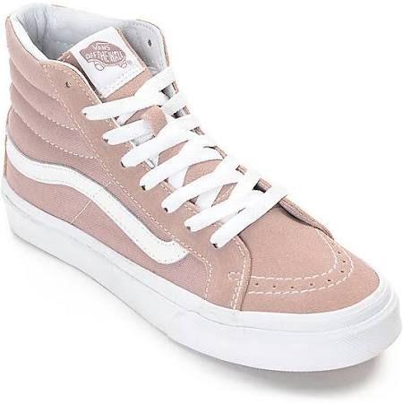 43899b3162 Vans Sk8-Hi Fawn Mauve Womens Skate Shoes - Women s Light Pastel Pink Size  9 Skateboarding Shoes at Zumiez