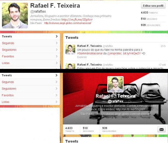 Twitter lança novo layout com foto de cabeçalho